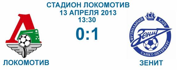 Локомотив - Зенит 24 тур 2013