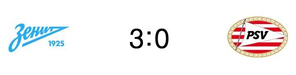 Зенит — ПСВ 1/16 Лиги Европы 2014/15
