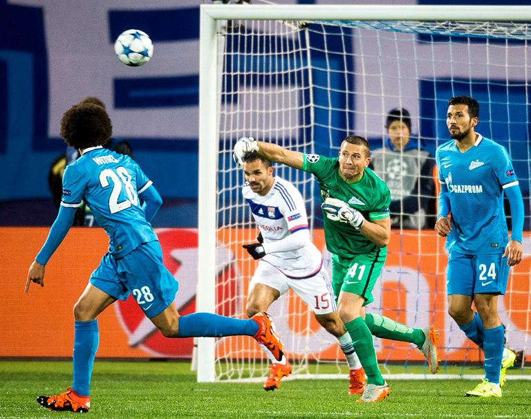 Зенит — Лион 2:0, Лига чемпионов 2015/16 Группа «H», 4-й тур