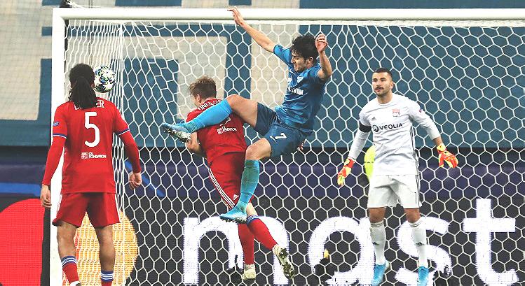 ЗЕНИТ — ЛИОН 2:0. Лига Чемпионов 2019-20. Группа «G», 5-й тур.