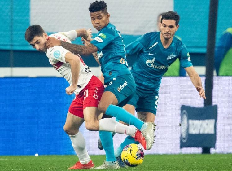 ЗЕНИТ — СПАРТАК 1:0. Чемпионат России 2019-20, 18-й тур.